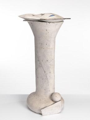 Monumental form on pedestal foot