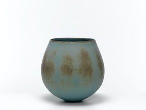 Blue & Brown Rounded Pot