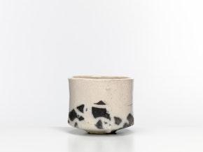 White raku tea bowl